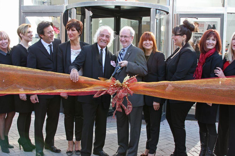 Mario Tricoci and Skokie Mayor George Van Dusen cutting the ribbon!