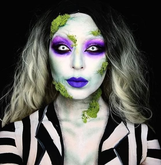 We'd say Beatlejuice three times if it meant having makeup skills this good.