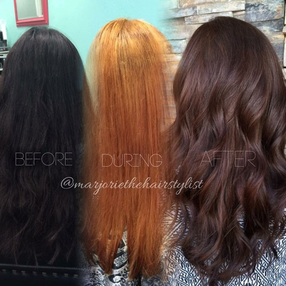 TRANSFORMATION: Box To Caramel Toffee Brown