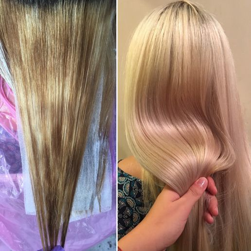Hair color makeover by Michelle Maspes. -