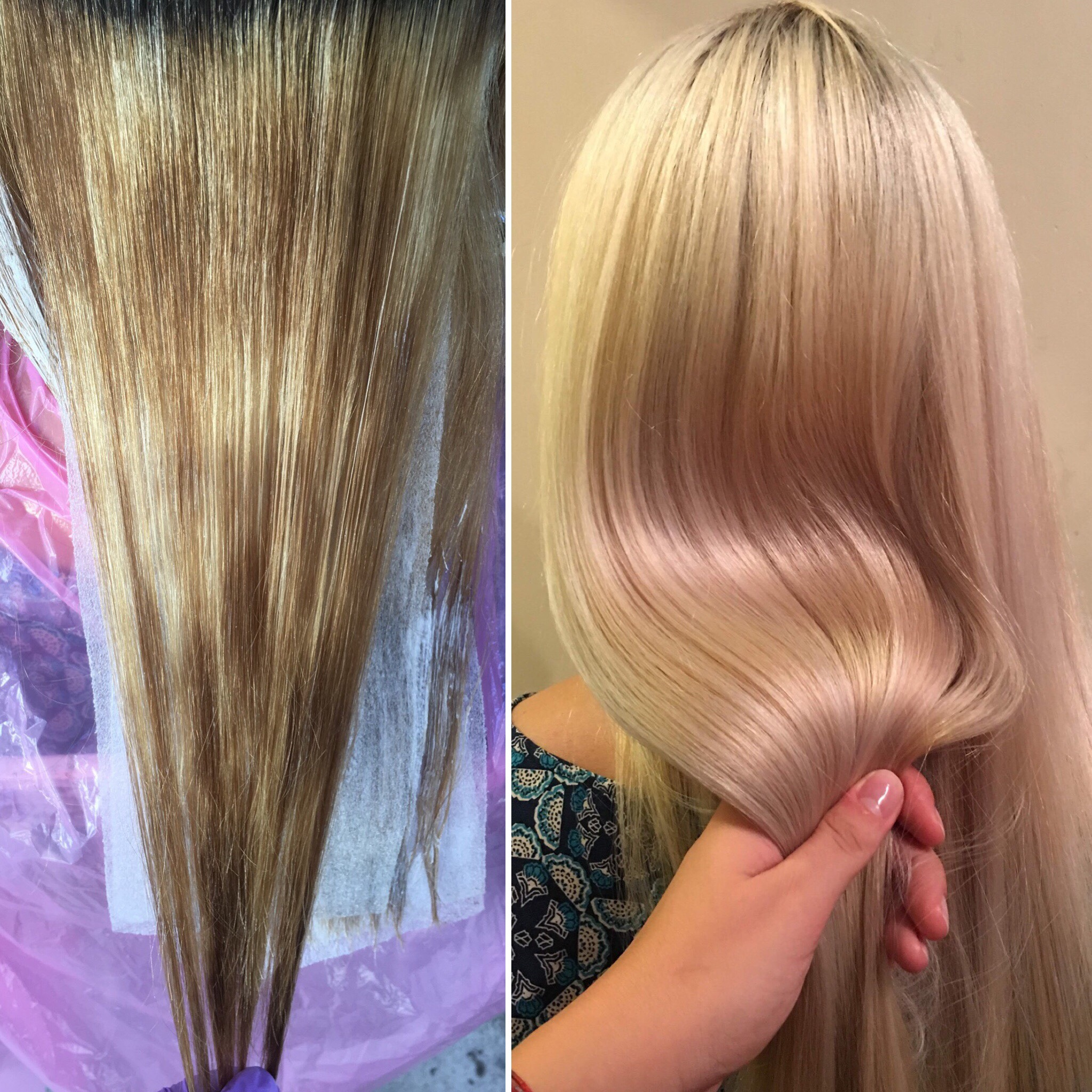 Hair color makeover by Michelle Maspes.