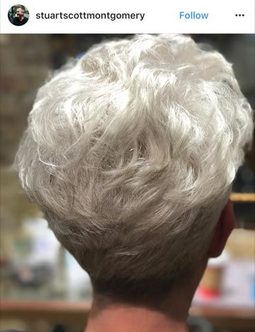 This submission by @stuartscottmontgomery on #modernsalon features beautiful, shiny white hair that's true to tone.