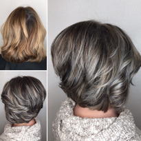 Makeover: Gray Blending + Asymmetrical Bob