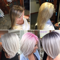 THE JOURNEY: Classic Blonde to Pink Root Shadow to Metallic