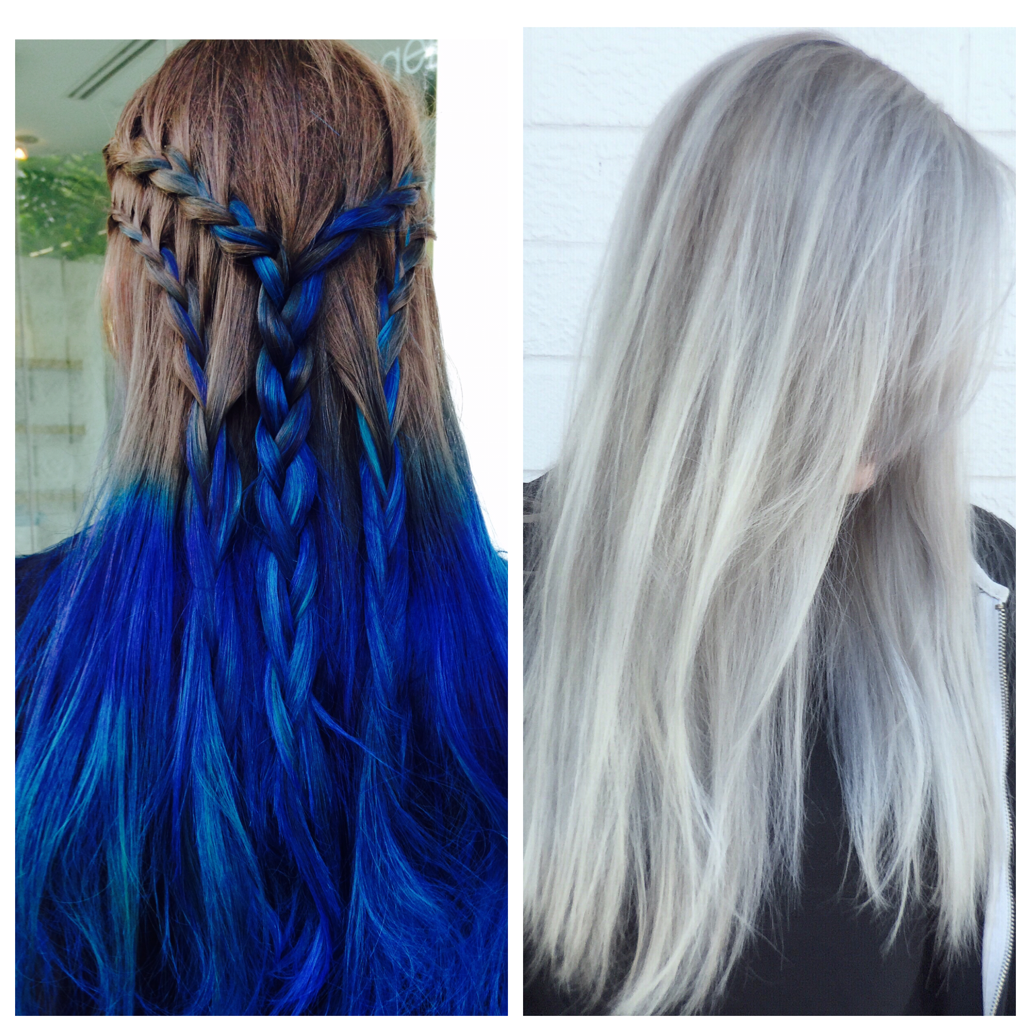 TRANSFORMATION: Fashion Color To Light Granite And Silver Balayage
