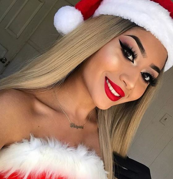This cute santa look takes inspiration from Ariana Grande's Thank U, Next music video.
