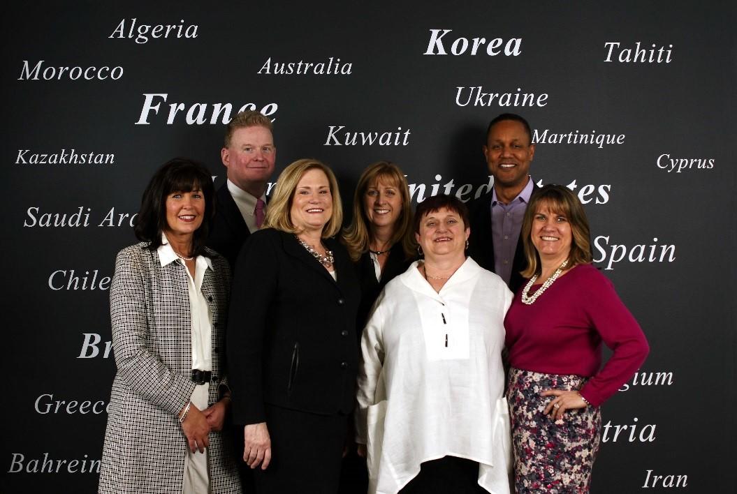 DESSANGE Group North America Leadership Team Photo L to R: Jan Lee, Mark Achorn, Linda Chadwick, Ruth Swanson, Susan Peace, Gerald Wells, Cindy Larkin
