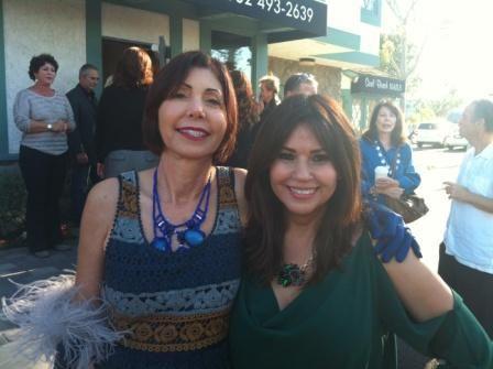 Designer Cynthia Pastor and Salon Meritage owner, Irma Acosta