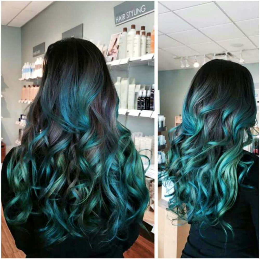 COLOR CORRECTION: Mermaid Green Ombre