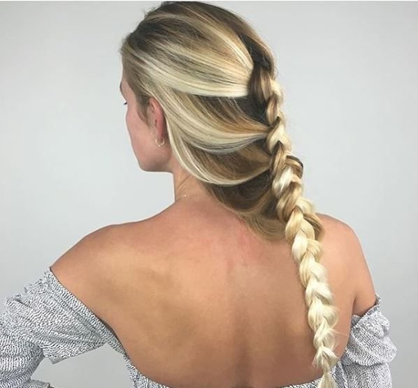 @mermicornhair proves a simple braid doesn't have to echo your preschool past.