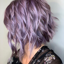 This lavender look gives us major shine envy. @studiobesalon_amandab used Muted Metallics to...