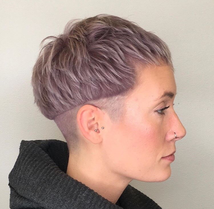 This sharp cut was colored with Lavender from the Muted Metallics Collection by @david_lowry.