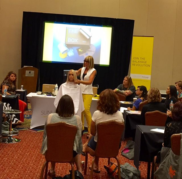 Candy Shaw teaches a balayage class during Millennium's The Experience 2015.
