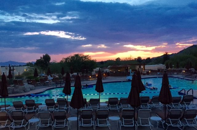 THE FUN SPOT: The JW Marriott in Scottsadale, Arizona, at sunset.
