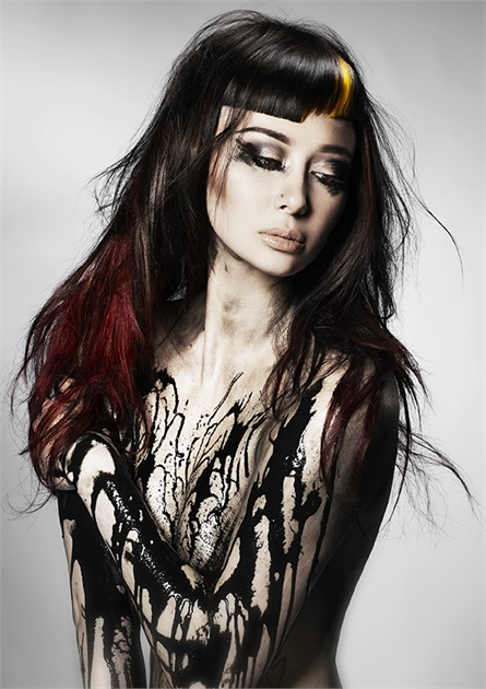 One of the images from Sota's winning 2017 NAHA collection. Check out the powerful fringe!