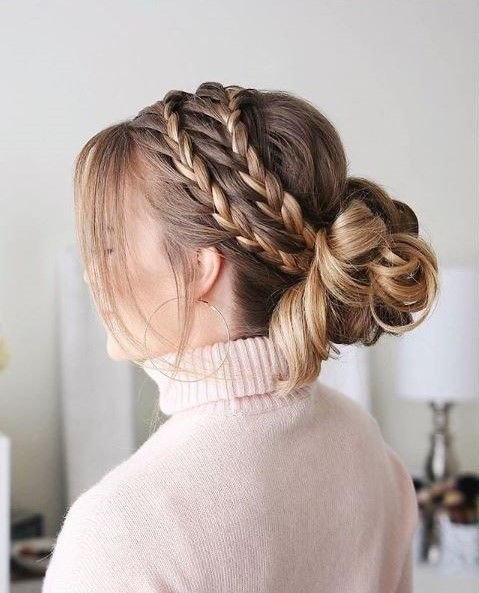 This triple braided style by @missysueblog is perfectly simple yet intricate.