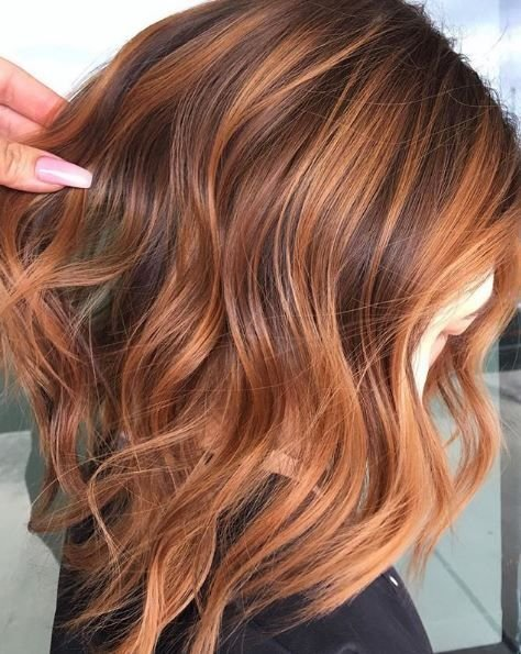 A coppery Queen 👑 by @texasbalayage