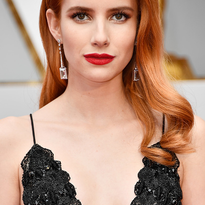 Vintage Bombshell Color and Style on Emma Roberts