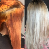 COLOR CORRECTION: Splotchy Mess To Buttery Blonde