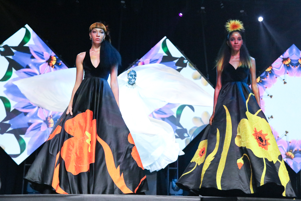 NAHA 2018:Aveda's presentation celebrated the beauty of plants and flowers.