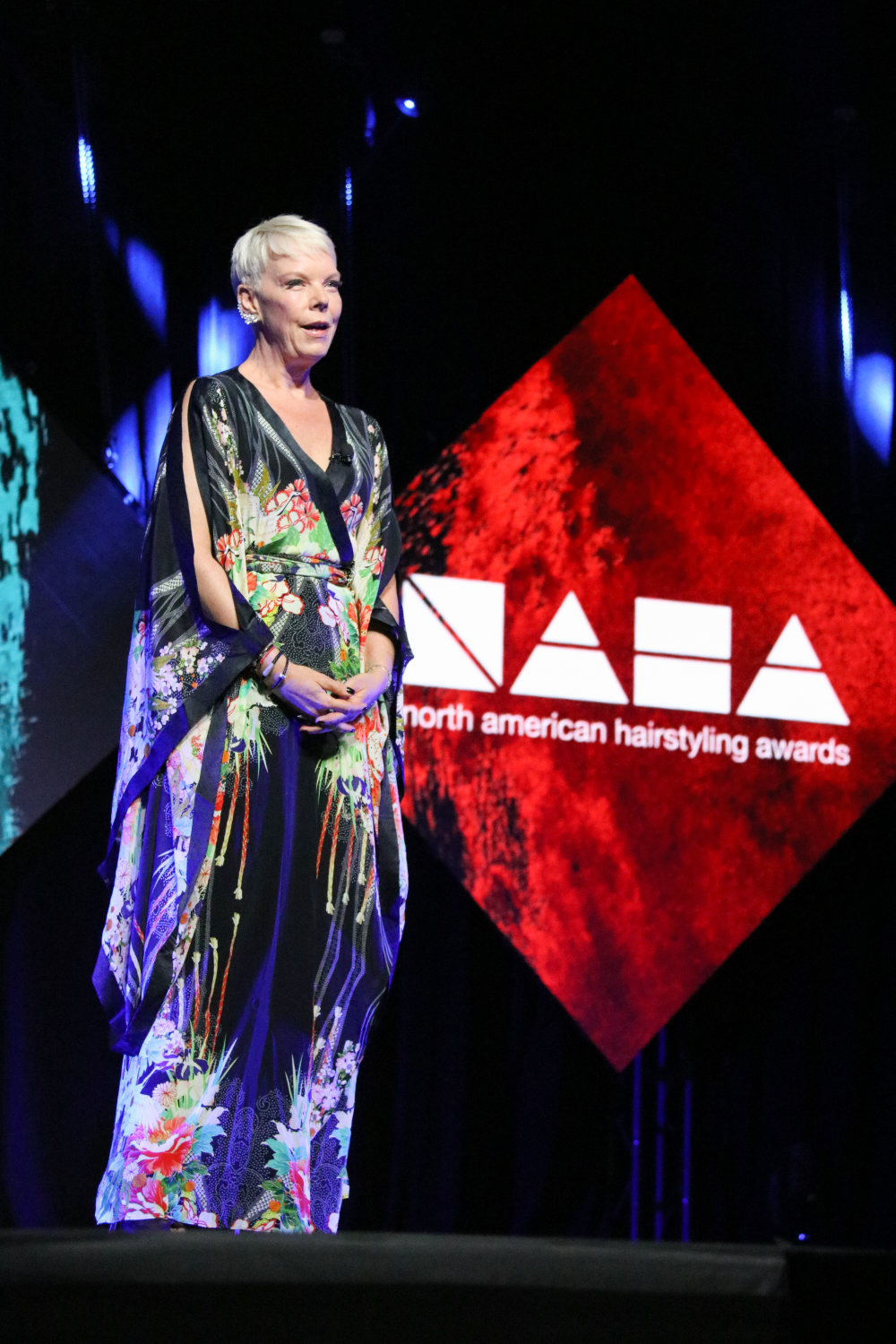 """NAHA 2018:The wonderful Tabatha Coffey was the host. """"You know I usually wear black but I'm wearing color for you, because it puts me out of my comfort zone just like you have done with your work."""""""