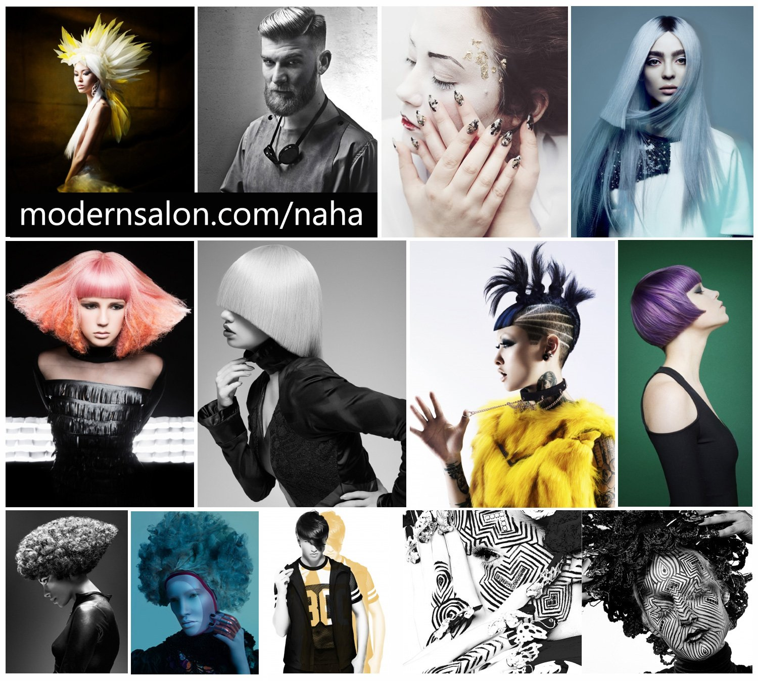 All NAHA images/photos are copyright © of the North American Hairstyling Awards (NAHA) and the Professional Beauty Association (PBA). All rights reserved.
