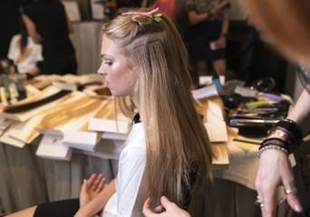 Great Lengths extensions added at Rachel Zoe SS2019 collection.