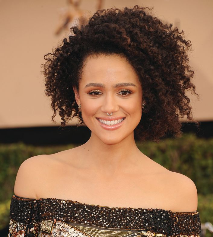Game of Thrones actress Nathalie Emmanuel rocked an asymmetrical cut at the 2017 Annual Screen Actors Guild Awards.