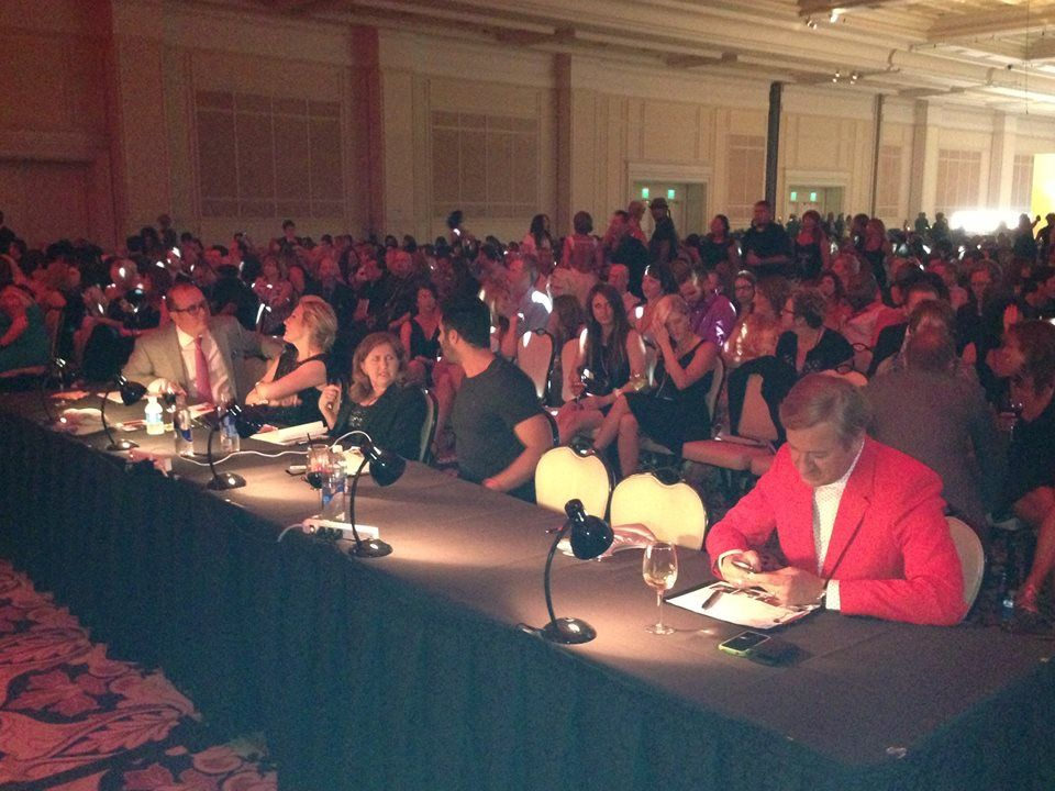 The judges table at Wella Professionals' 2013 Trend Vision Awards!
