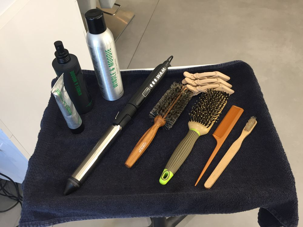 Neil Moodie shares his favorite products and tools used to create the Perfect Party Curl.
