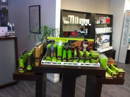 Macadamia Natural Oil, Aveda, Moroccan Oil and Nelson's own line are retailed.