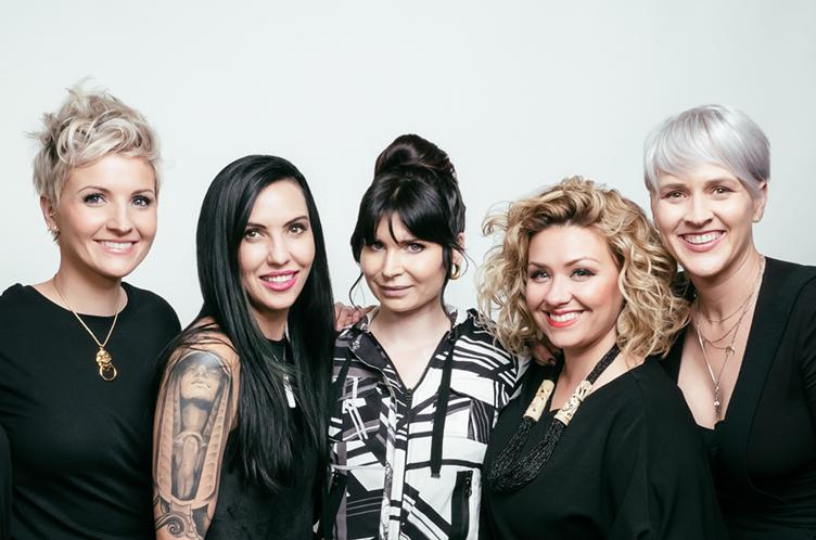 Christina Carter, Raven Feurer, Catlin Weston, Tashya Garoutte, and Sarah Mac