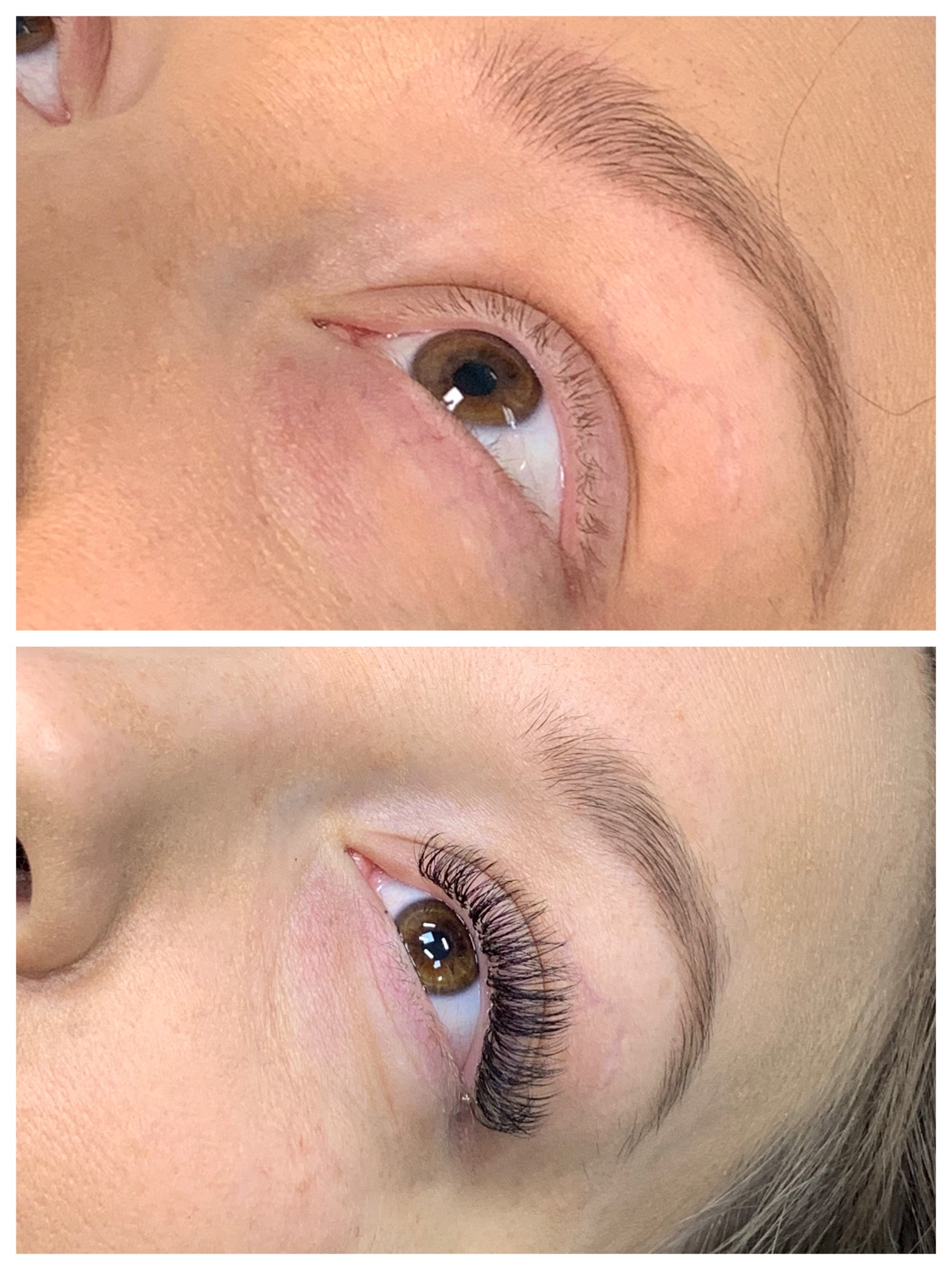 BEFORE AND AFTER: Novalash Eyelash Extensions by Fotini Filini.