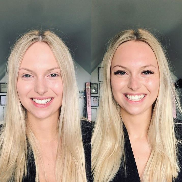 Before & After - American Volume Lashes