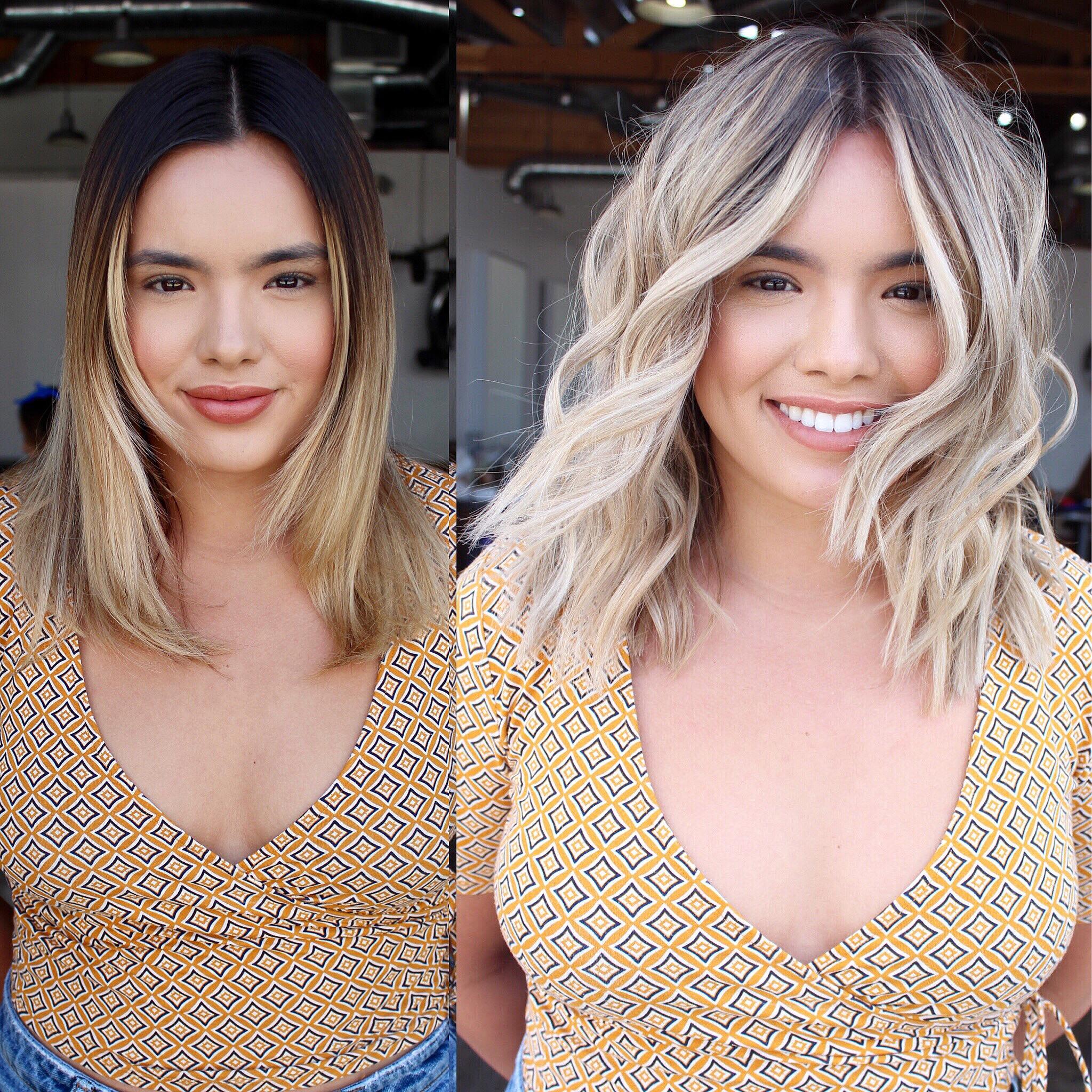 Hair color makeover by Andreana Nunez (@dreeanaloveee)