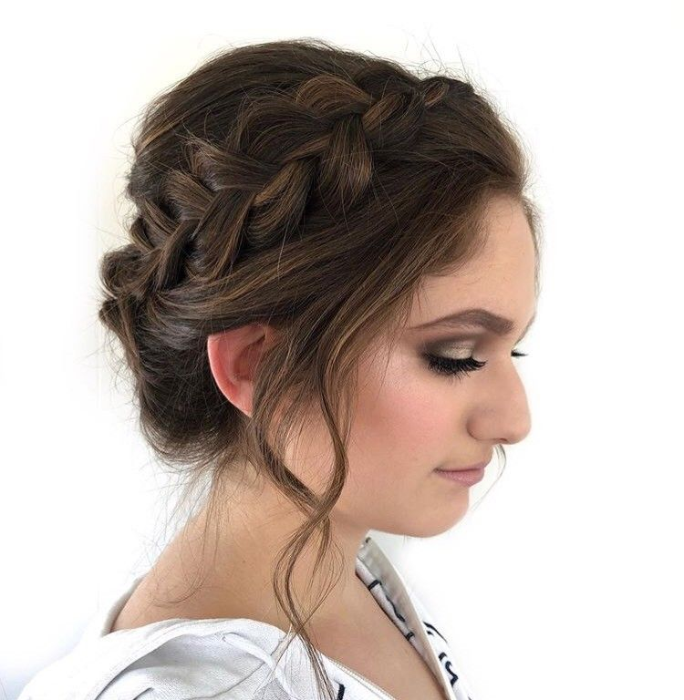 We love this braided updo. It would be perfect bridal hair!