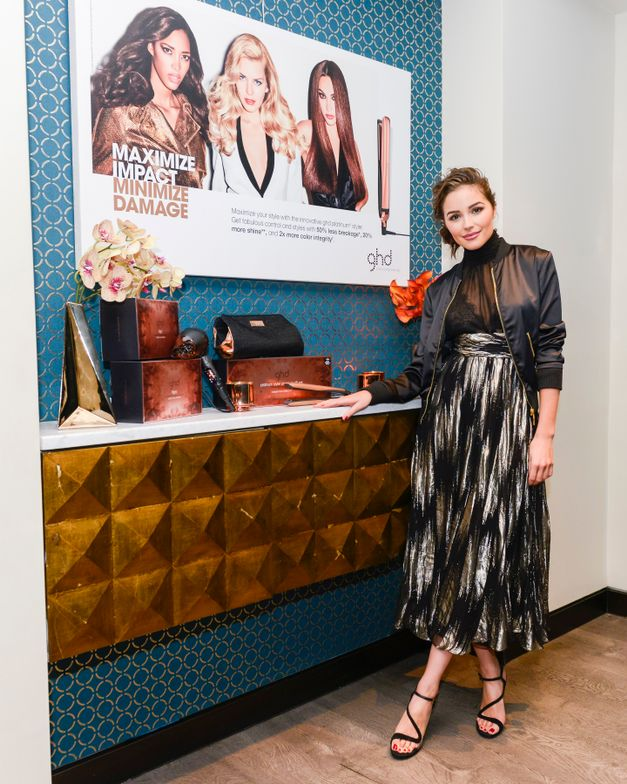 """Olivia Culpo is GHD's new brand ambassador and the face of it's new campaign, """"Maximize Impact, Minimize Damage."""""""