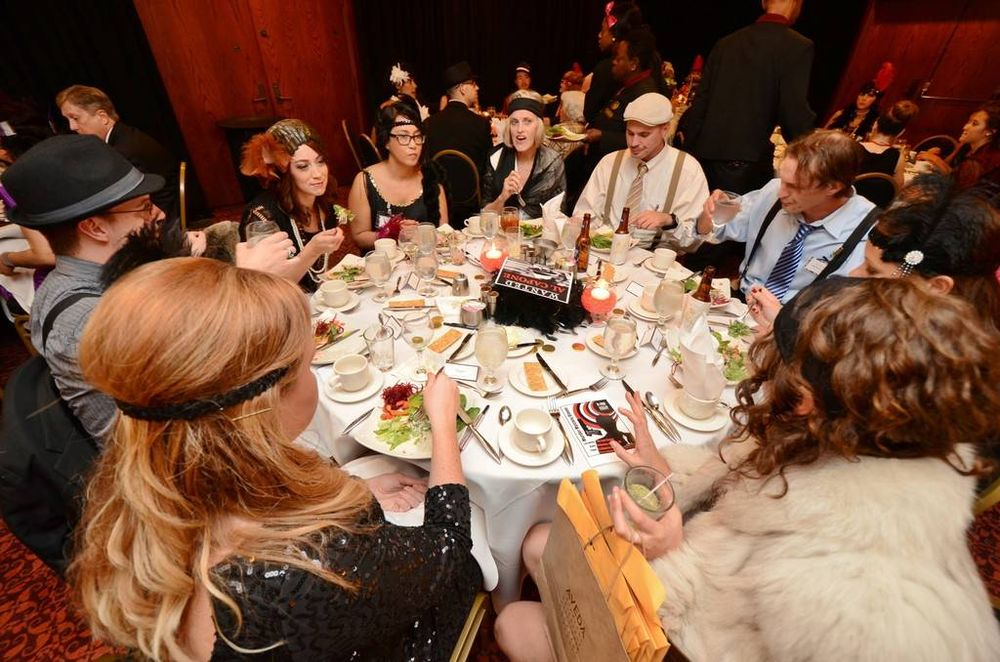 Guests enjoy a Murder Mystery Dinner hosted by Omagi Salon Spa.