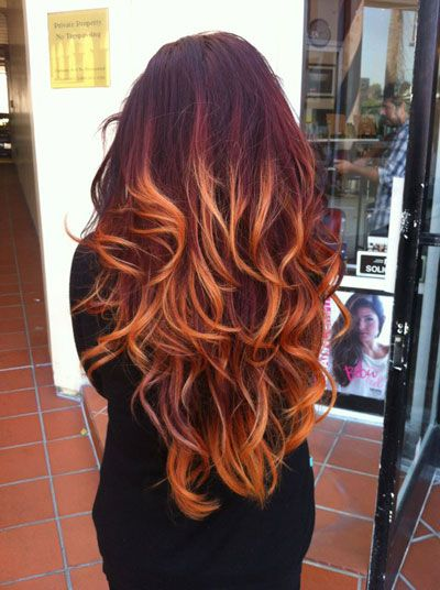 Flaming Red Ombre The How To Wellness Modern Salon