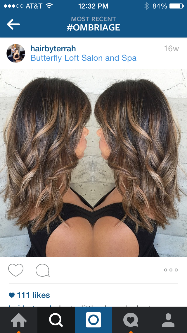 Ombriage: Ombriage is a combination of ombre and balayage application, also called balayombre.