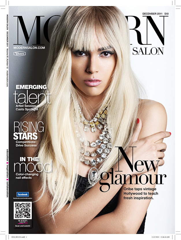 December 2011's issue of MODERN SALON, featuring Oribe's work on the cover.