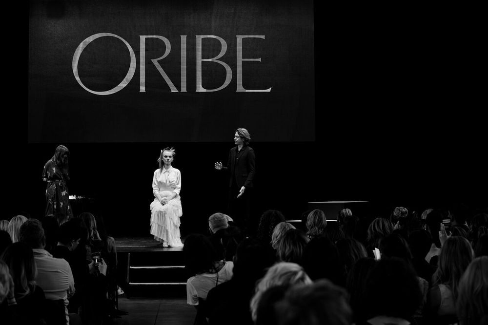 James Pecis presents a model at the Oribe Atelier.