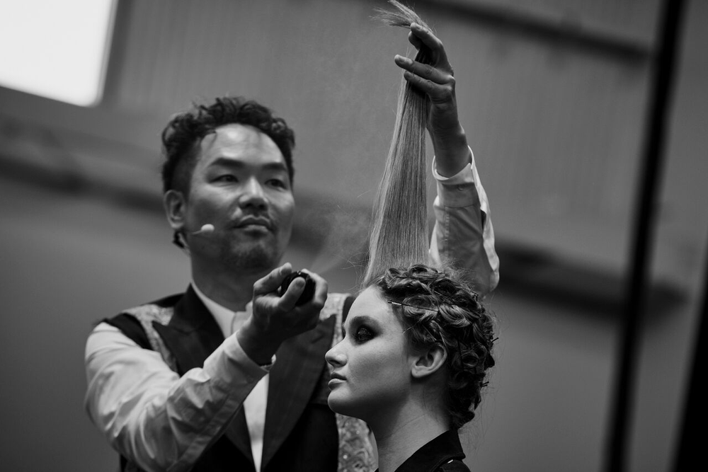 Kien Hoang on stage at the Oribe Atelier.