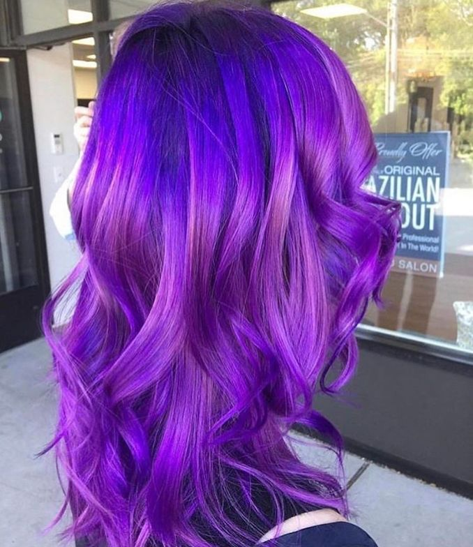 @paigemelia_ created this neon purple with Joico Intensity color, packing a powerful purple punch!