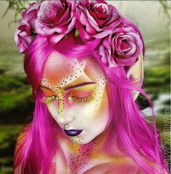 Pretty in pink is taken to a whole new level with this mystical fairy look.