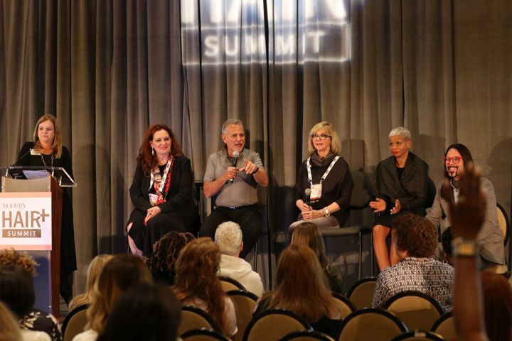 <p>Stacey Soble moderates as planning committee members Karen Gordon, Jeffrey Paul, Sheila Wilson, Evie Johnson and Brent Hardgrave wrap up questions from Day One.</p>