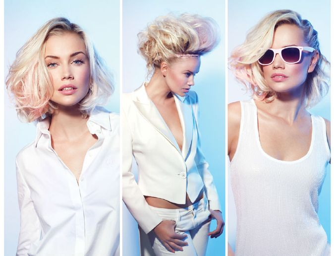 3 Platinum Hair Color Looks With Pops of Pastel Pink