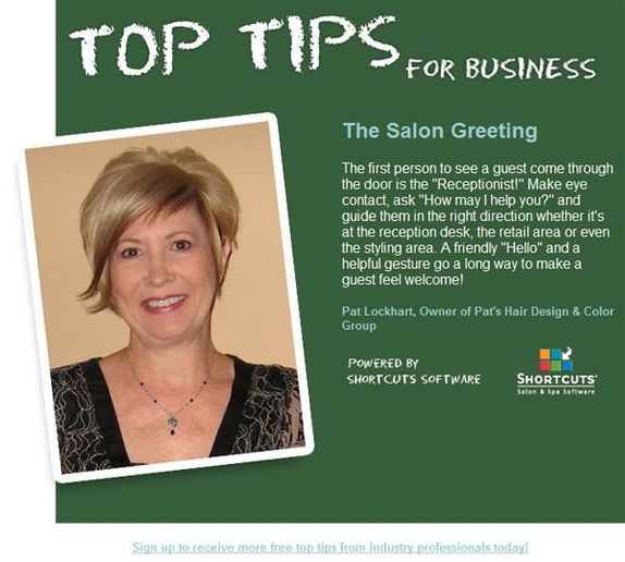 Top Tip: The Salon Greeting