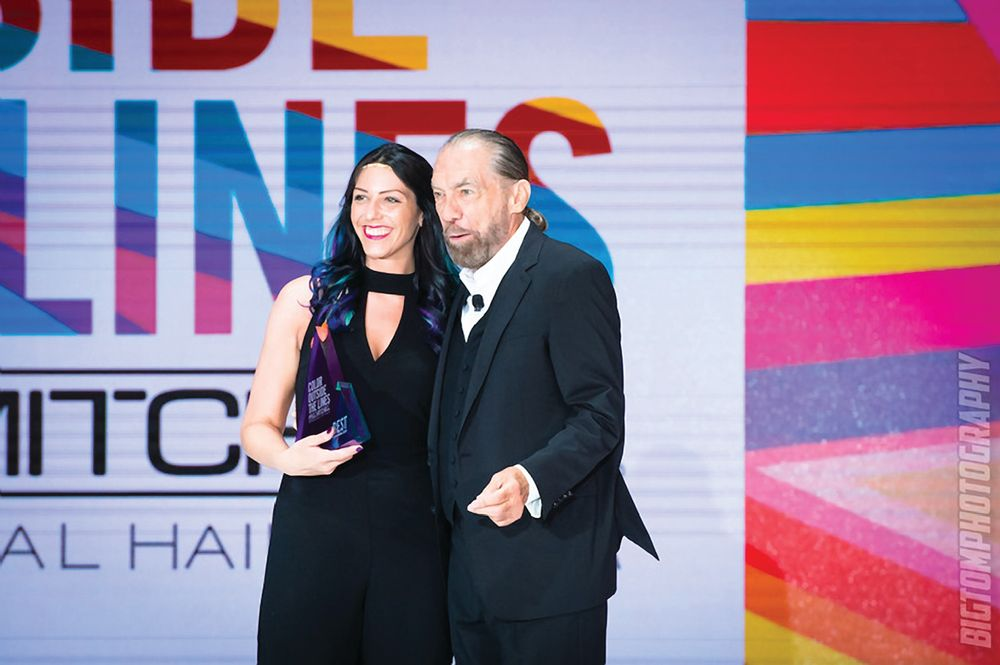 Alexandria Garner and John Paul DeJoria, co-founder of John Paul Mitchell Systems