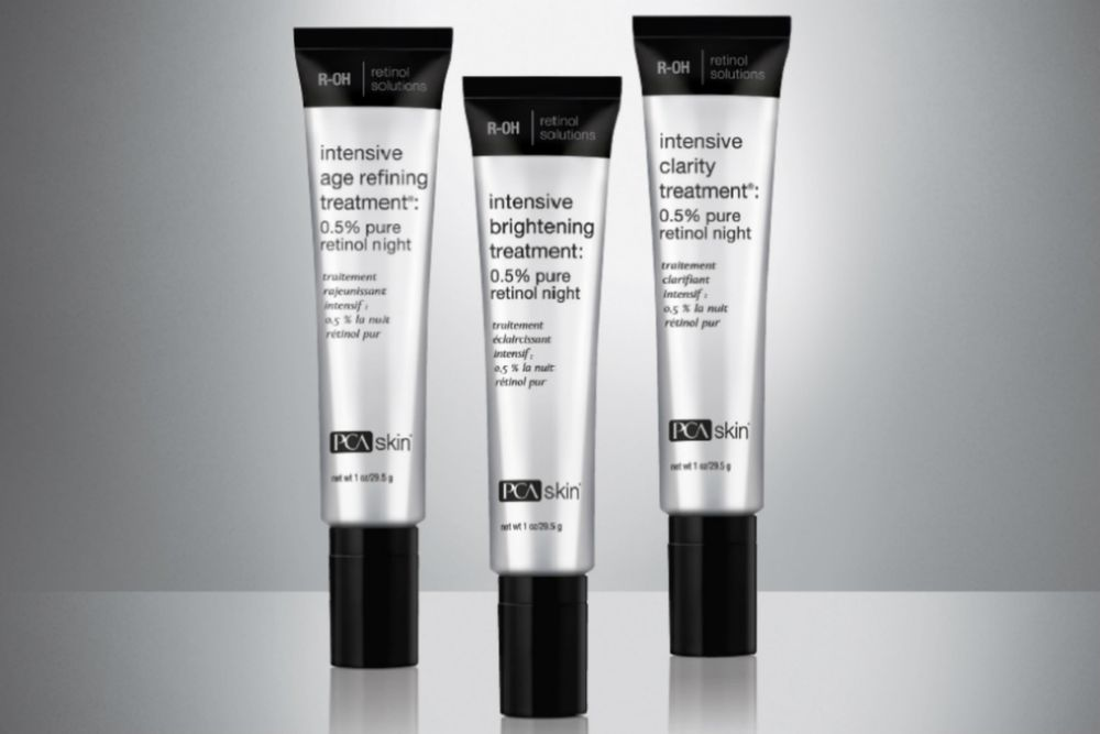 <strong>Retinol: </strong>Retinol targets skin concerns like aging, discoloration and acne. <strong>PCA SKIN's R-OH</strong> collection uses a Omni-Some delivery system, so the formula stays stable on skin and penetrates through the deepest layers for 10 hours while your client sleeps at night.